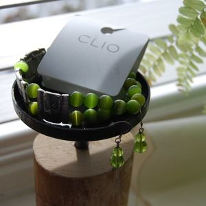 Jewelry - Lime green cuff and earrings bundle